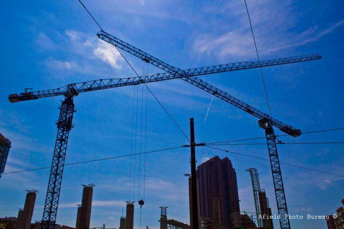 Dueling Cranes Uptown