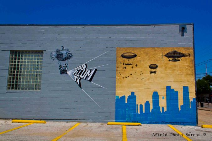 There are many murals in Deep Ellum - this is one of my favorite.