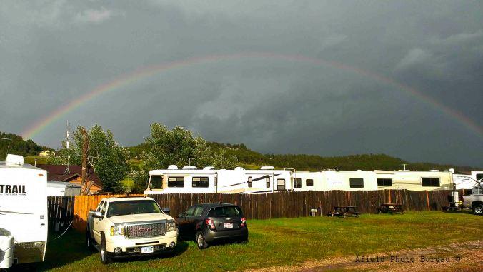 Campsite rainbow.