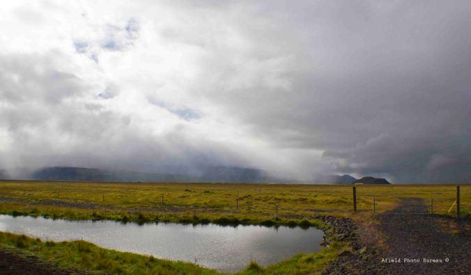 The rain fell mainly on the plain.