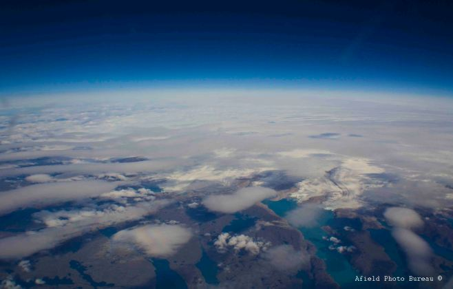 Greenland looks very cool from 37,000 feet.