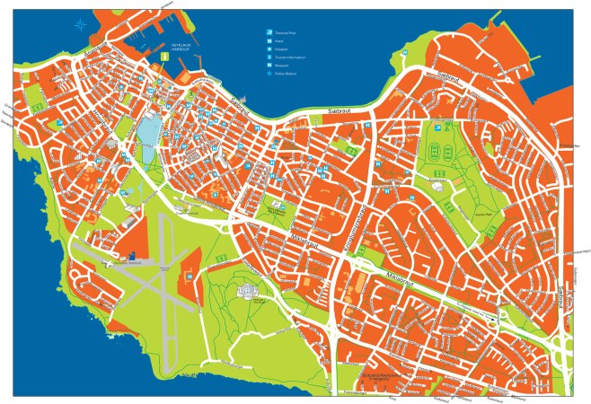 Map of Reykjavik city center courtesy of Vidiani.com