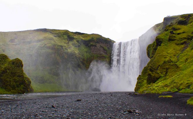 Skogafoss from a distance.