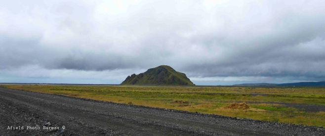 A view west across the Markarfljot to the little mountain we climbed earlier.