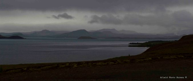 View of Þingvellavatn. Even though the rain was a bummer the clouds always gave a sense of emotion to the photos.