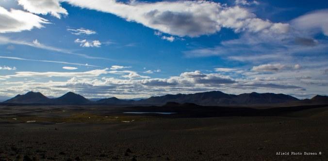 View southwest towards the Ódáðahraun lava fields.