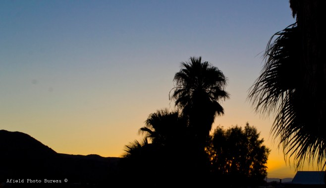Sunset at 29 Palms Inn.