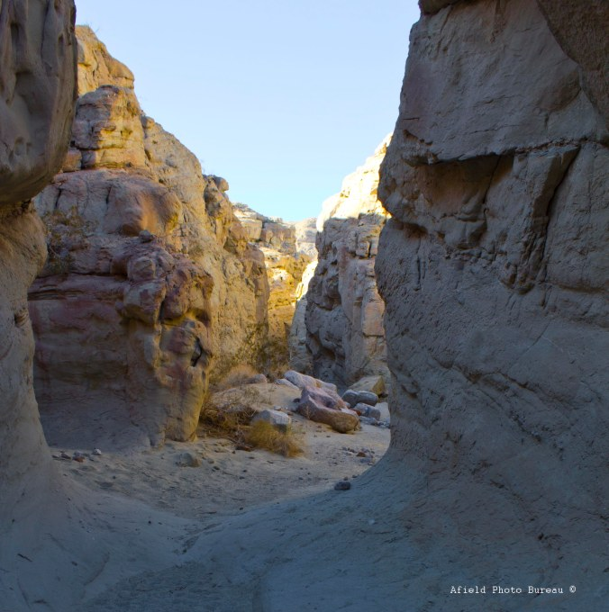 A little slot canyon on the Calcite Mine Trail at ABDSP.