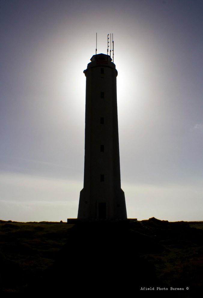 A lighthouse near Hellnar. Very phallic, this one.