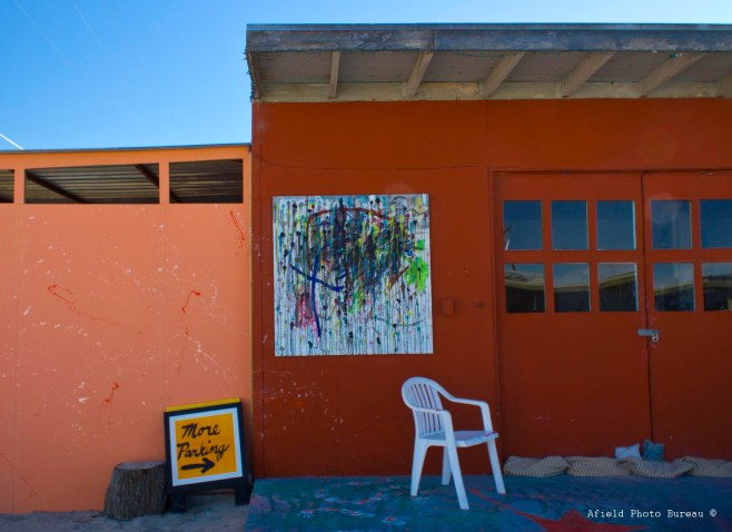 The artist studios at 29 Palms Inn.
