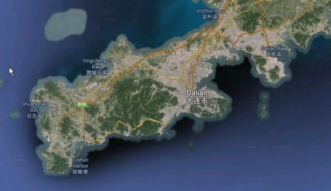 Google Earth Screenshot of Dalian