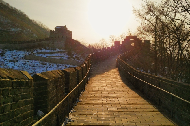 Golden Hour on the Hushan Wall. Good stuff even if it is a cell phone pic.
