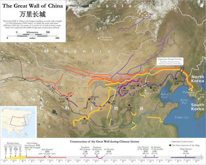 """""""Map of the Great Wall of China"""" by Maximilian Dörrbecker"""