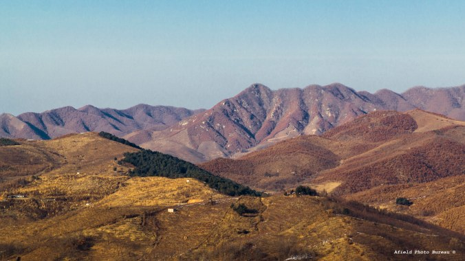 A view north into Liaoning Province. It reminded me a lot of the Santa Lucia Mountains near Big Sur.