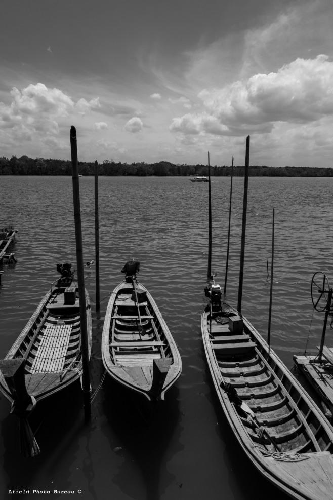 Boats at the dock on Koh Panyee.