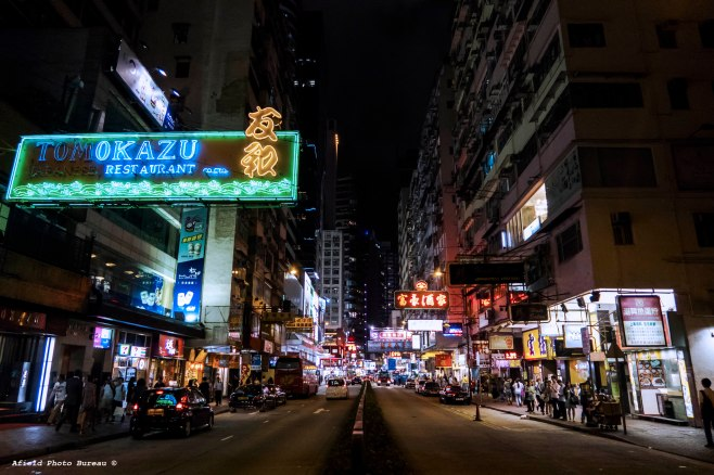 Wan Chai is one of the party epicenters in Hong Kong. I spent a lot of time there because there is an irish pub and a decent mexican place there. Also, there are a lot of pretty lights and wacky ass people walking around.