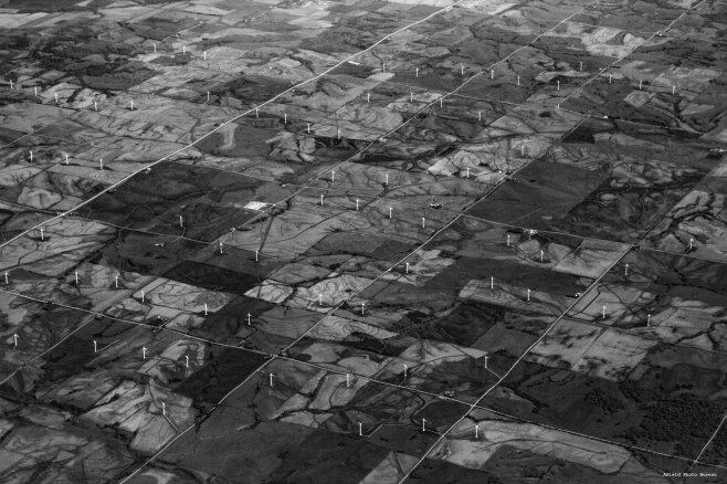 One of my favorite photos of Iowa from above. These windmills are near Carroll Iowa - 2012.