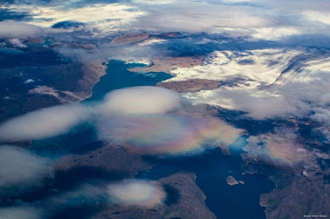 Lenticular clouds from 35,000 feet. Greenland - 2013.