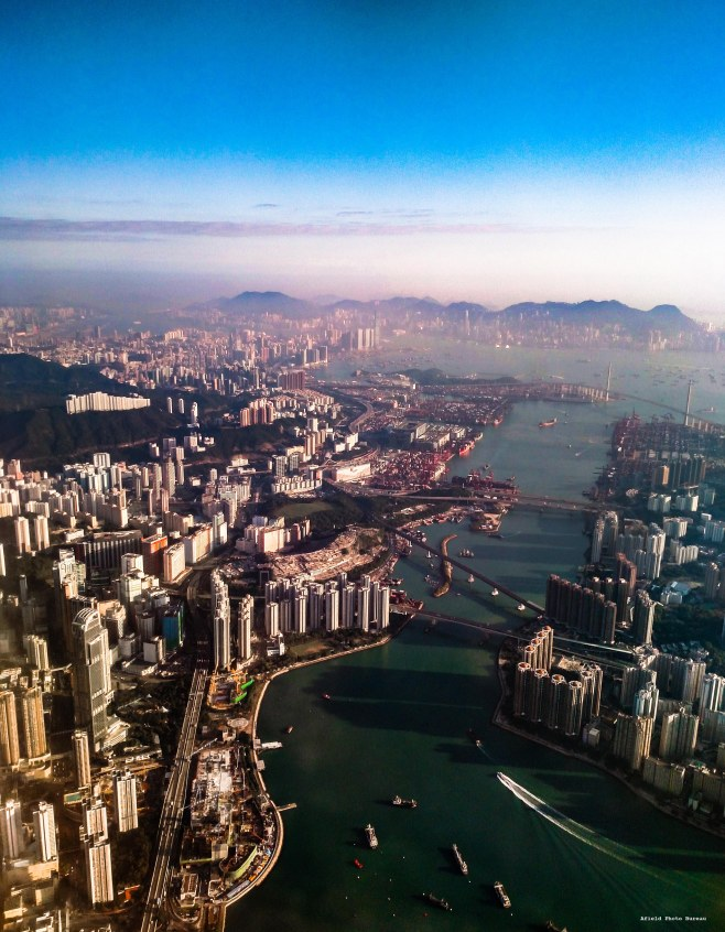 Hong Kong is my favorite city on Earth and on a recent approach in 2015 I managed to get a shot of it on a clear day.