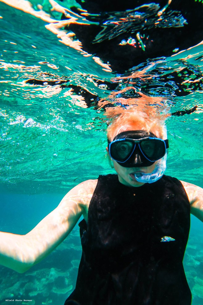 There is the editor in chief in all her underwater glory.