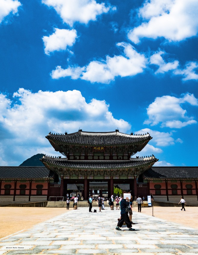 The gates of Gyeongbokgung - the main royal palace of the Joseon Dynasty.