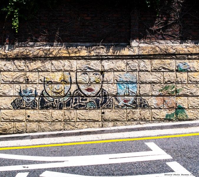 Graffiti a la Bukchong Village.