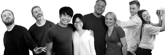 Miles, Andy, Alvin, Becky, Me, Blondie, Dan, and Jess. Photo courtesy of Dan Jones.